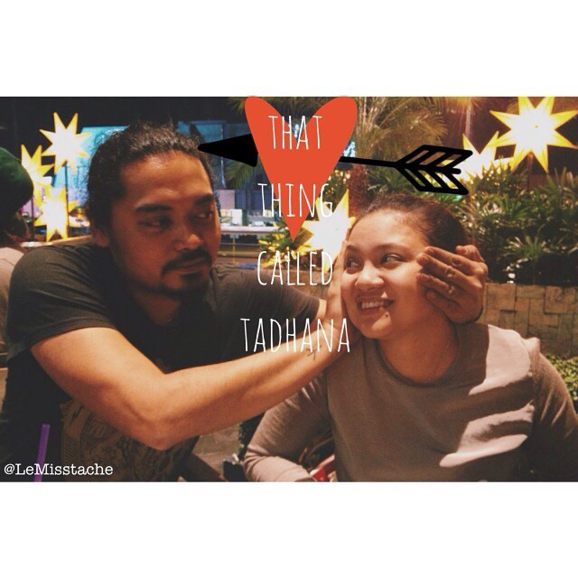 Doing the Tadhana pose: Antoinette Jadaone with her partner in crime, Dan Villegas, director of English Only, Please.
