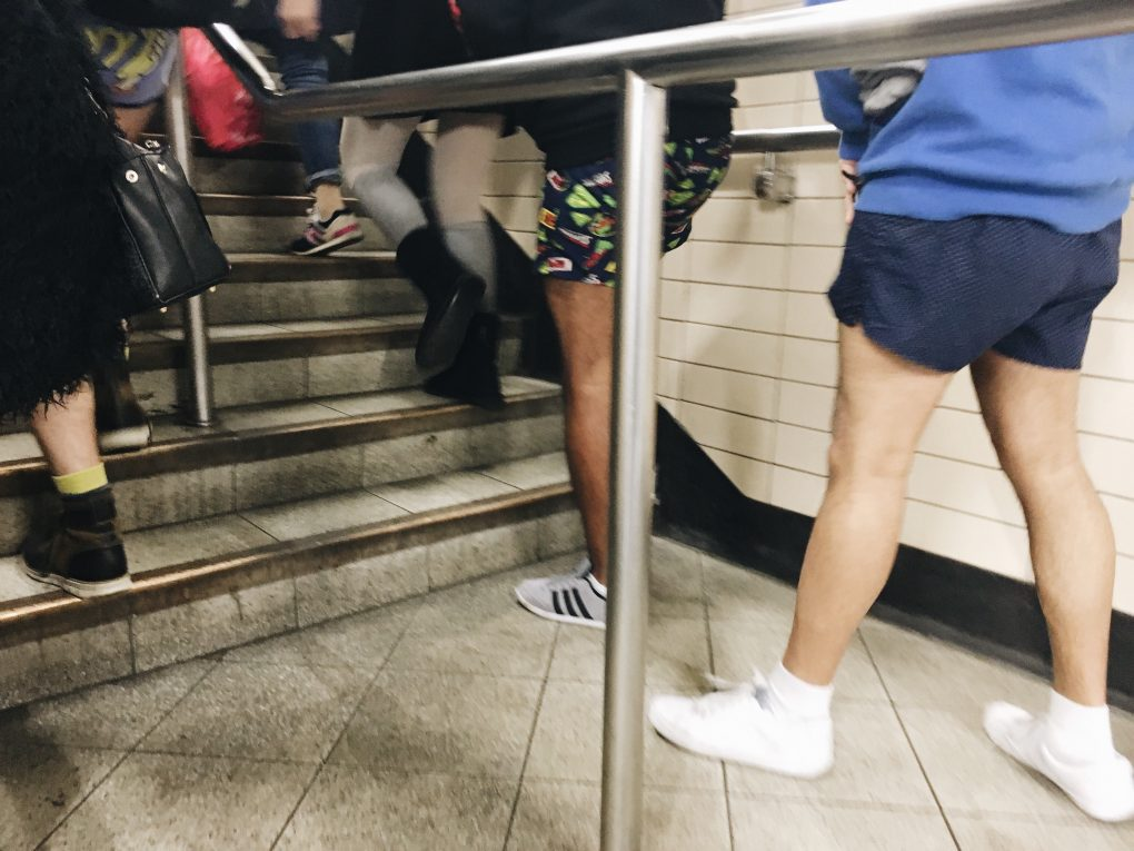 no trousers on the tube